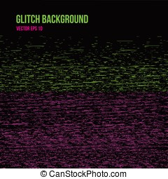 Abstract glitch effect background - Vector illustration of...