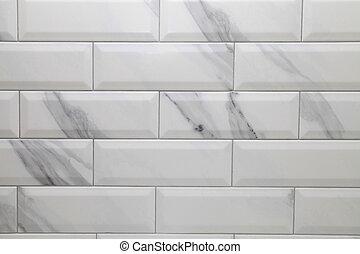 white metro ceramic tile background - white marble metro...