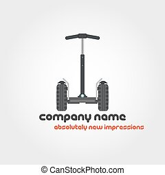 Segway and company name - Vector isolated illustration of...