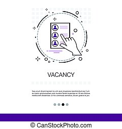 Specialist Candidate Vacancy Search Web Banner With Copy...