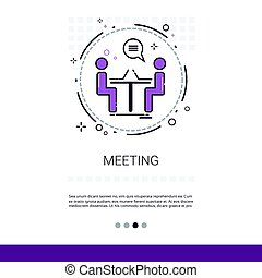 Business Team Meeting Brainstorm Process Web Banner With...