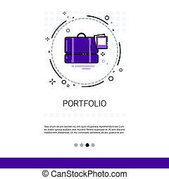 Portfolio Case With Document Contract Business Web Banner...