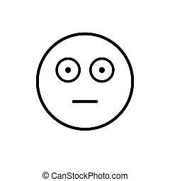 Cartoon Face Shocked People Emotion Icon Illustration