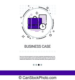 Case With Document Contract Business Web Banner With Copy...
