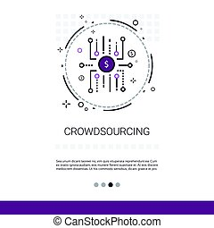 Crowdsourcing Business Resources Crowdfunding Web Banner...