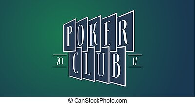 Poker club vector icon, logo. Playing cards on traditional...