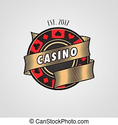 Poker, casion vector logo, symbol. Design element with...