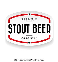 Stout Beer vintage sign vector