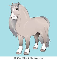Unicorn with silver mane.