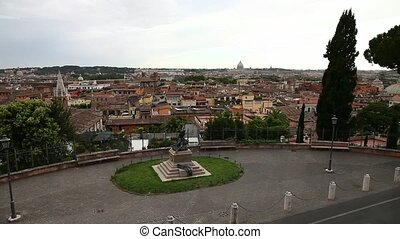 panoramic skyline of Rome - Panoramic aerial view of Rome...
