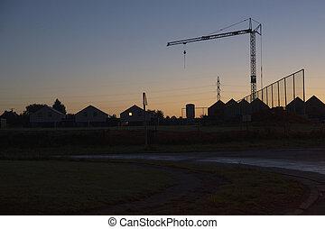 Sunrise on site