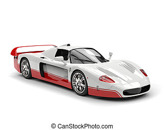 White concept super car with red decals