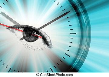 Time Flies - Conceptual montage themed around time or...