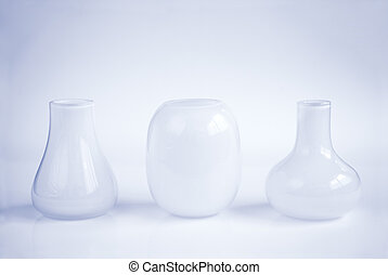 three vases in a row