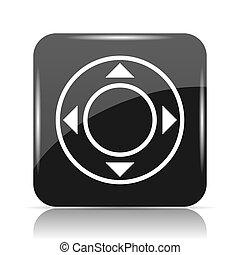 Joystick icon. Internet button on white background.