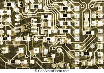Circuit Boards Background pattern - Circuit board lines...