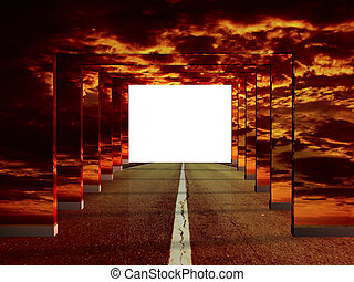 Road illusion