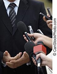 Business, réunion, conférence, journalisme,...