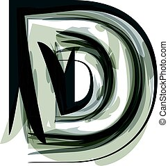 Abstract Letter D illustration