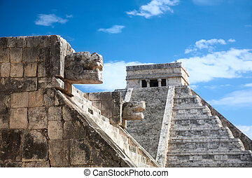 Chichen, Siete, itza, México, Uno, plataforma, nuevo, venus,...
