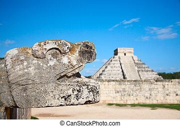 Chichen, itza, México, Uno, nuevo, Siete, maravillas, mundo