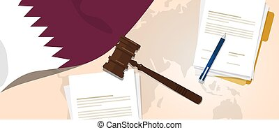 Qatar law constitution legal judgment justice legislation...