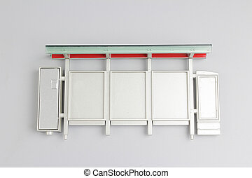 the Bus stop with blank banners isolated - Bus stop with...