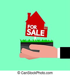 Real Estate For Sale Vector Illustration