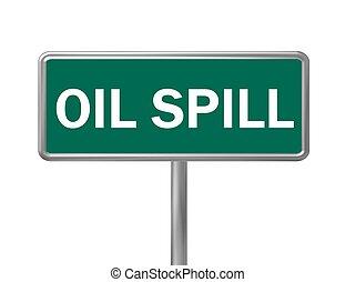 aceite, señal, derramar