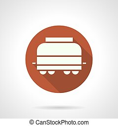 Refrigerated rail car round vector icon - Abstract white...