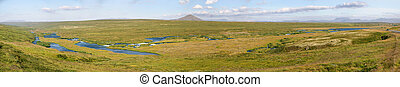 Myvatn Overview - panoramic view around Lake Myvatn in...