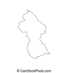 Guyana map silhouette
