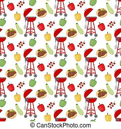 Barbeque grill pattern