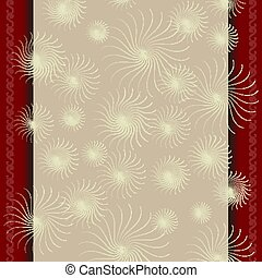 Template for a certificate with beige red border
