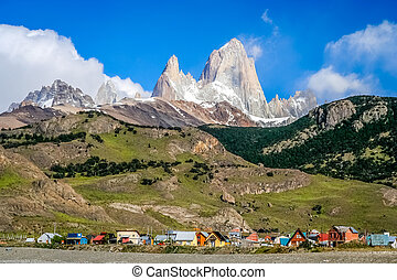 El Chalten town - Small town of El Chalten at the foot of...