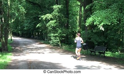 Young female jogger in the park