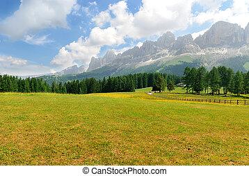 Trentino Alto Adige landscape - Alpine scenery in northern...