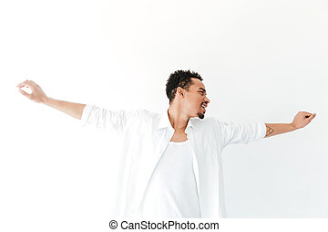 Handsome young african man isolated