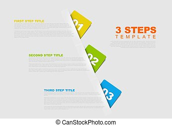 One two three - vector progress template