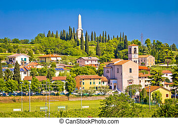Village of Custoza idyllic landscape view, Veneto region of...