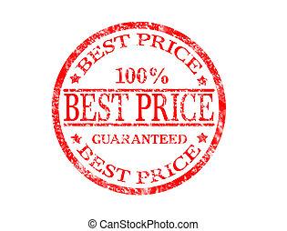 Best price stamp - Best price grunge rubber stamp