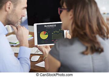 diagrama, círculo, empresa / negocio, análisis