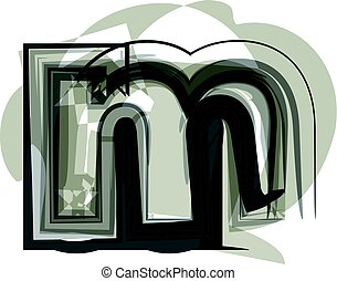 Abstract Letter m