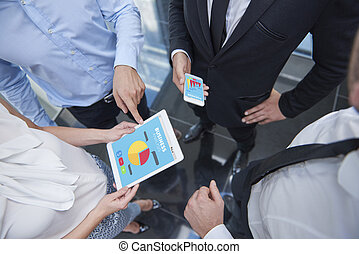Business meeting with group of people