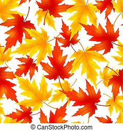 Seamless pattern with colorful leaf fall - Beautiful nature...