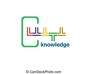 Text Knowledge. Education concept. Abstract Modern Signs for Banner, Poster or Card Design