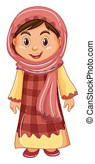 Irag girl in traditional costume