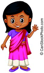 Srilanka girl in pink costume