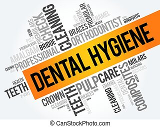 Dental hygiene word cloud collage