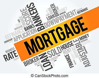 Mortgage word cloud collage